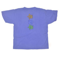 4 Pencil Turtle Youth Tee - Flo Blue - Back