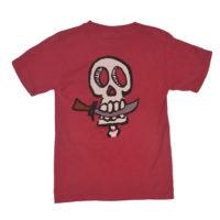 79 Pirate Head Kids Tee - Crimson - Back